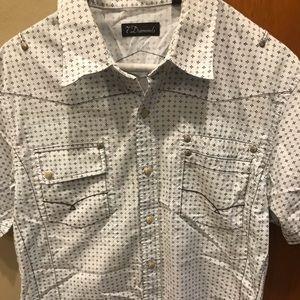 Light Blue Men's 7 Diamonds Button-Down Shirt